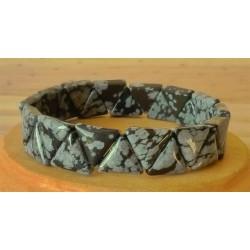 Bracelet Obsidienne mouchetée triangle