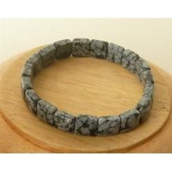 Bracelet Obsidienne mouchetée square 10mm
