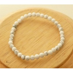 Bracelet Howlite Perles rondes
