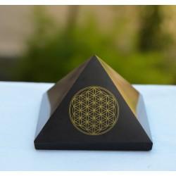 Pyramide Shungite Fleur de Vie