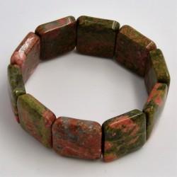 Bracelet Unakite square 20mm