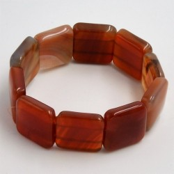 Bracelet Cornaline square 20mm
