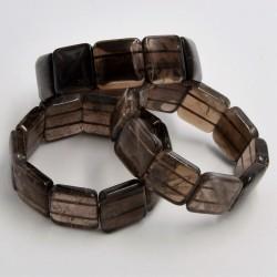Bracelet Quartz fumé square 20mm