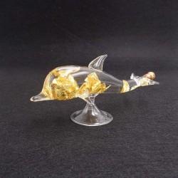 Feuilles d'Or en dauphin de verre