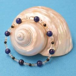 Bracelet Shungite + Cristal de Roche +  Citrine + Lapis-Lazuli