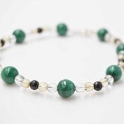 Bracelet Shungite + Cristal de Roche + Malachite + Citrine
