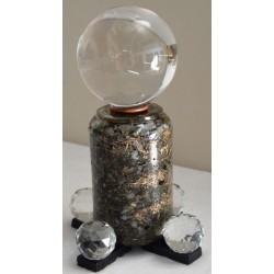 Canon d'énergie Labradorite C5 + sphère 10cm
