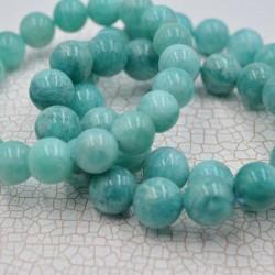 Amazonite bracelet perles rondes 10mm