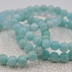 Amazonite bracelet perles rondes 8  mm