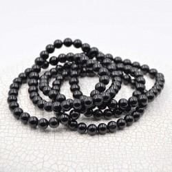 Tourmaline noir bracelet perles rondes 6mm