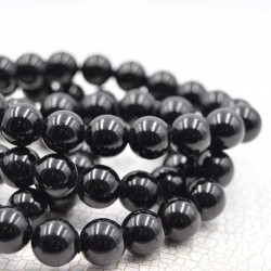 Tourmaline noir bracelet perles rondes 10mm