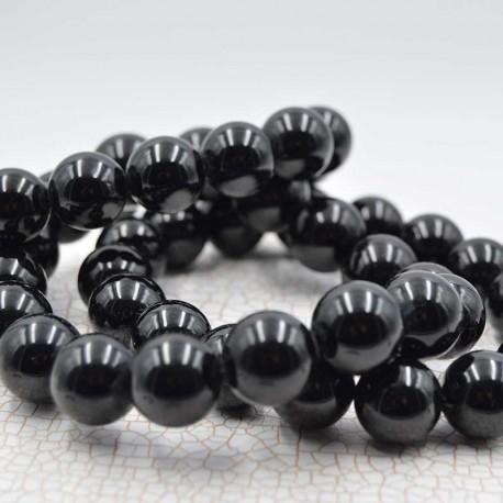 Tourmaline noir bracelet perles rondes 12mm