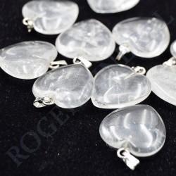 Cristal de Roche pendentif coeur