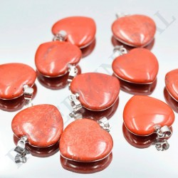 Jaspe Rouge pendentif coeur