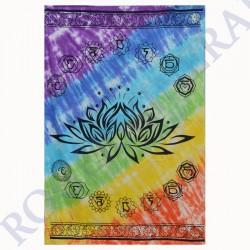Tenture Coton Fleur de Lotus et Chakras