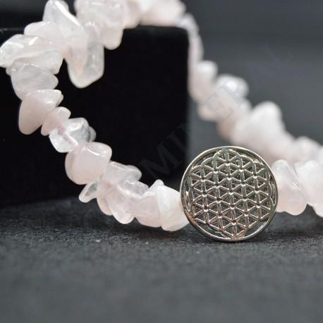 Bracelet Améthyste baroque avec Fleur de Vie