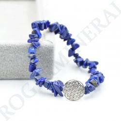 Bracelet Lapis-Lazuli baroque avec Fleur de Vie