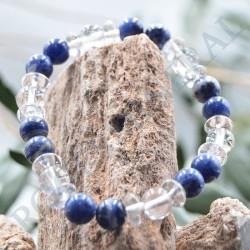 Bracelet Sodalite et Cristal de Roche