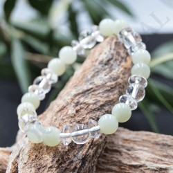 Bracelet Jade et Cristal de Roche