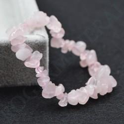 Bracelet Quartz Rose baroque