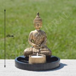 Bouddha de la méditation en résine, couleur or