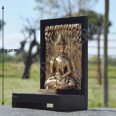 Tableau Bouddha de la bénédiction en résine et porte bougie