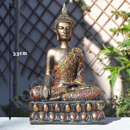 Bouddha bénédiction de la Terre en résine