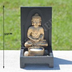 Bouddha résine couleur or