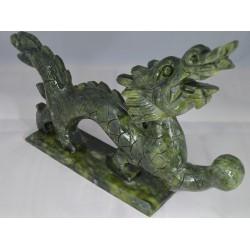 Dragon Feng-Shui en Jade 34cm x 18cm