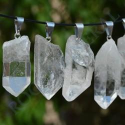 Pendentif pointe Cristal de Roche brut