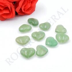 Fluorite verte petites coeurs