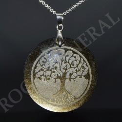 Obsidienne dorée pendentif Arbre de Vie.