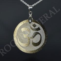 Obsidienne dorée pendentif Om PODOM