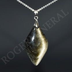 Obsidienne dorée pendentif PODRM