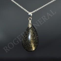 Obsidienne dorée pendentif ARF66