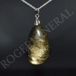 Obsidienne dorée pendentif PODGG