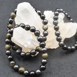 Bracelet Shungite et Obsidienne