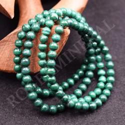 Bracelet Malachite perles rondes 6mm IGPUM06