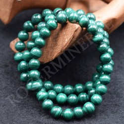 Bracelet Malachite perles rondes 8mm