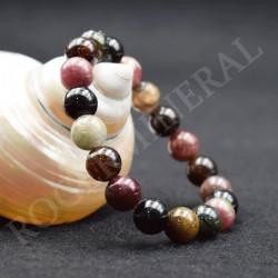 Bracelet Tourmaline multicolore perle de 10mm