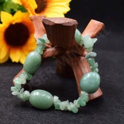 Bracelet Aventurine chips et pierres roulées