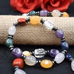 Bracelet Multi pierre + Hématite