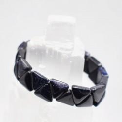 Bracelet Pierre de nuit triangle