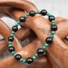 Bracelet Shungite et Malachite KPM03