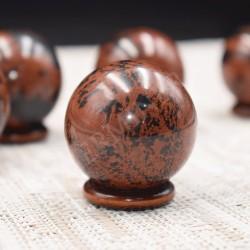 Sphères en Obsidienne Acajou