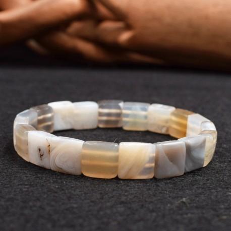 Bracelet Agate square 10mm