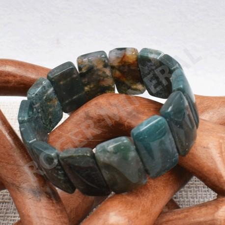 Bracelet Agate mousse  rectangle