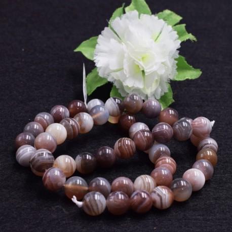 Agate Boswana naturelle perles 8mm prix dégressifs