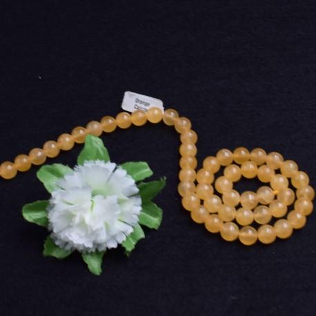 Calcite orange naturelle perles 8mm prix dégressifs