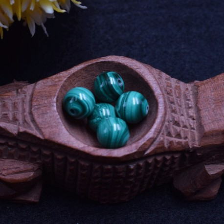 Malachite naturelle perles 8mm prix dégressifs